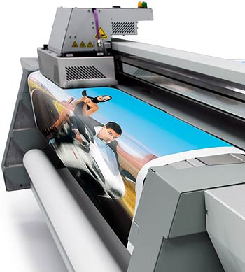 One of our large format printers